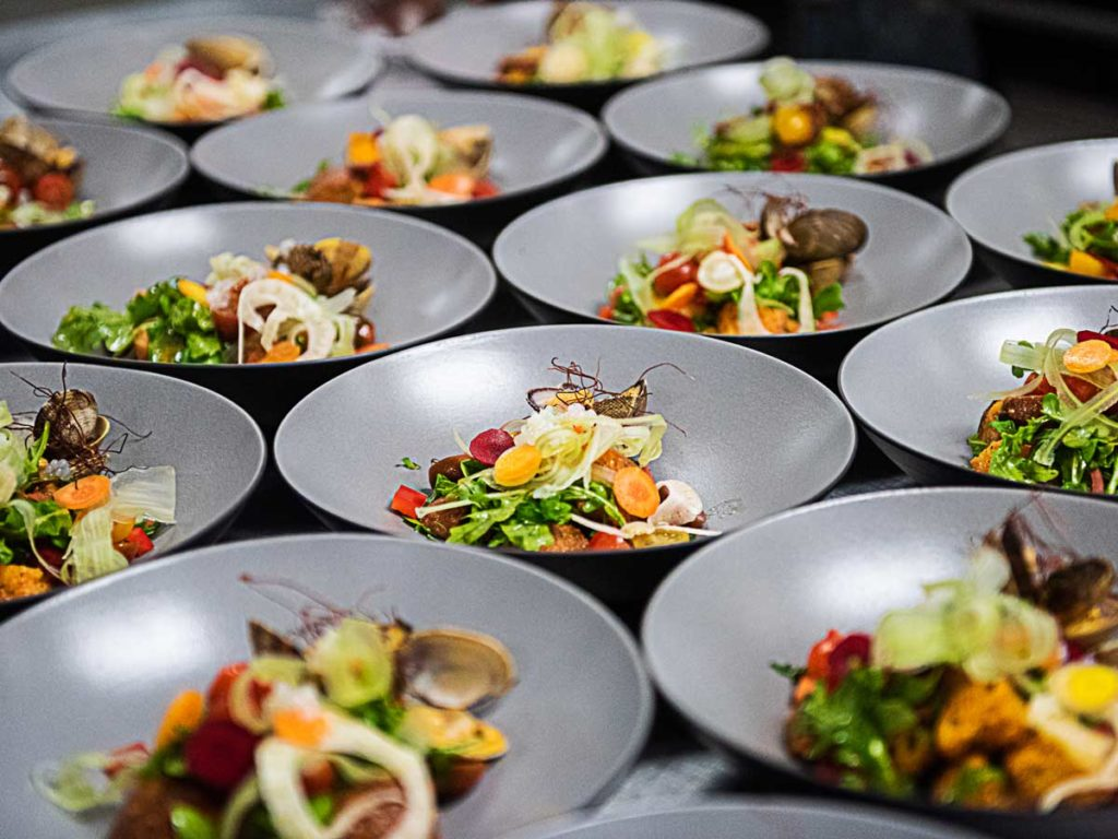 Table Of Catered Food.